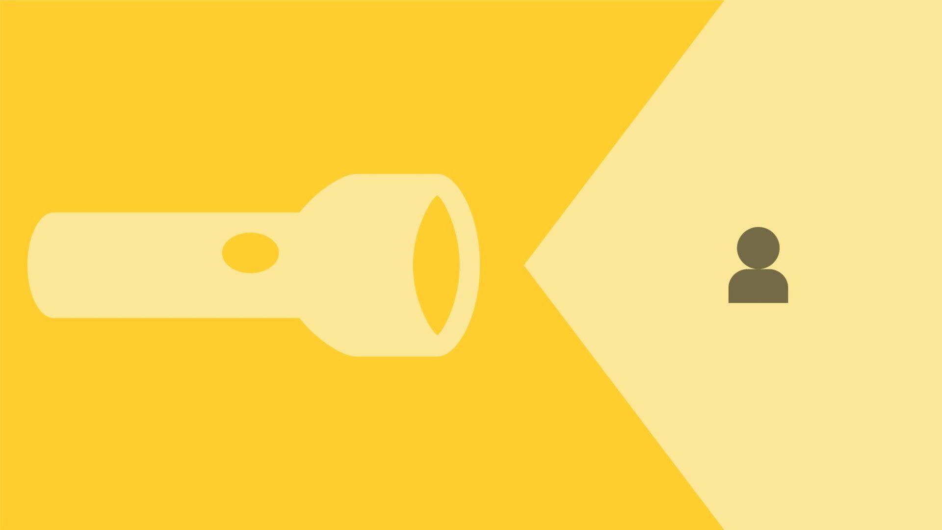 ficklampa-ikon för människa