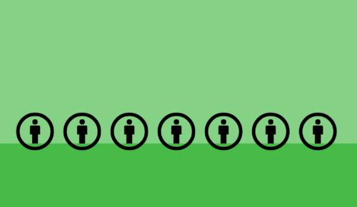 Ikoner på grön blakgrund
