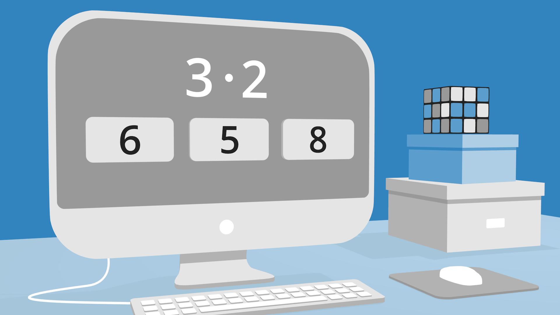 Dator med mattetal