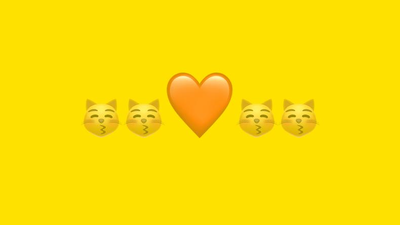 emojis katter och hjärta