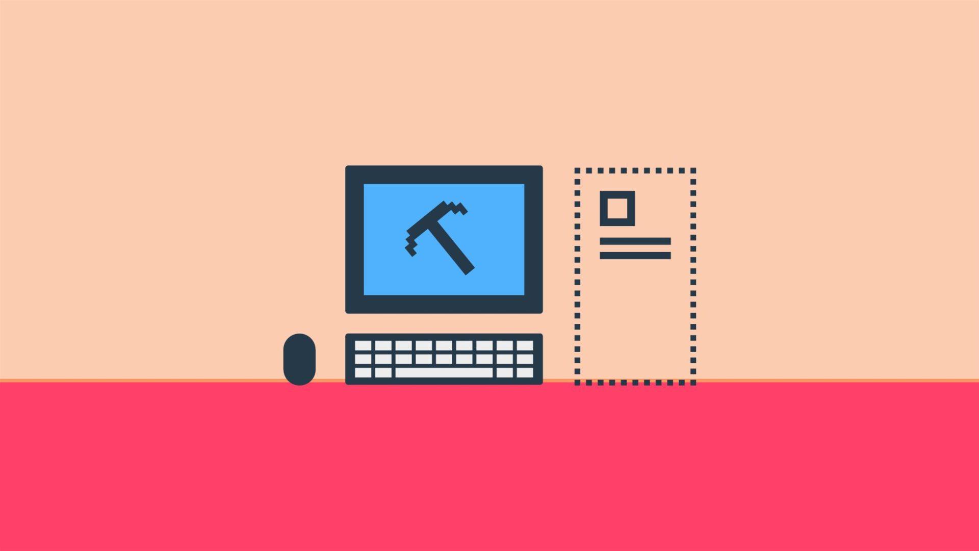 illustration dator hacka