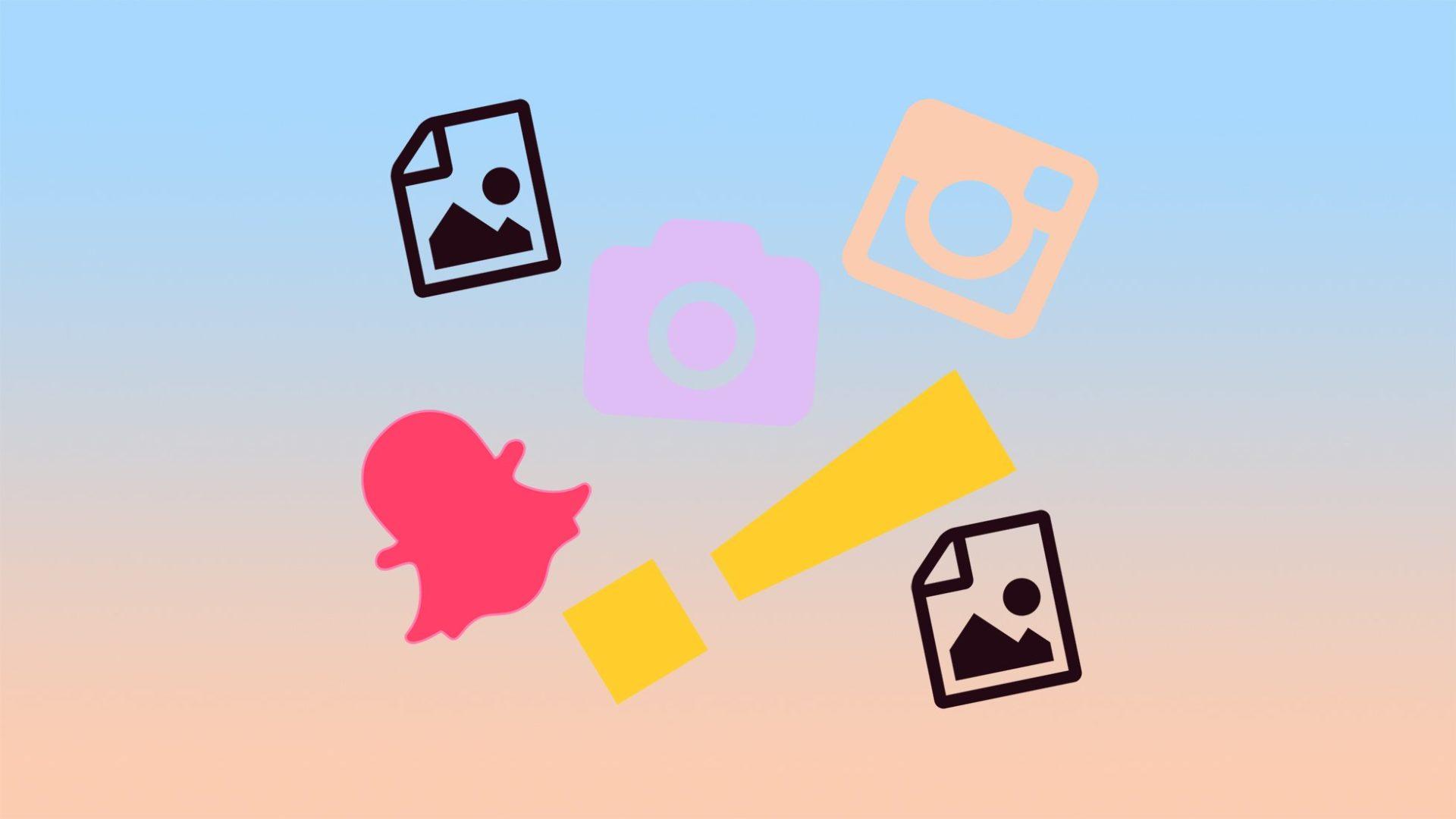 illustration av kamera och bilderna sociala medier